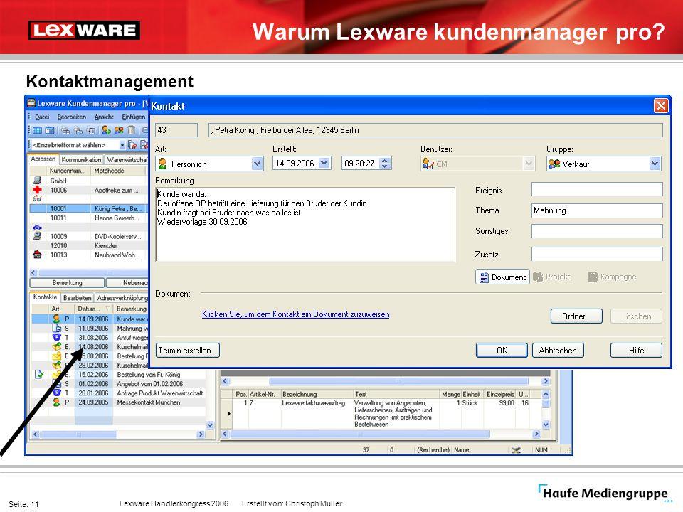 Warum Lexware kundenmanager pro