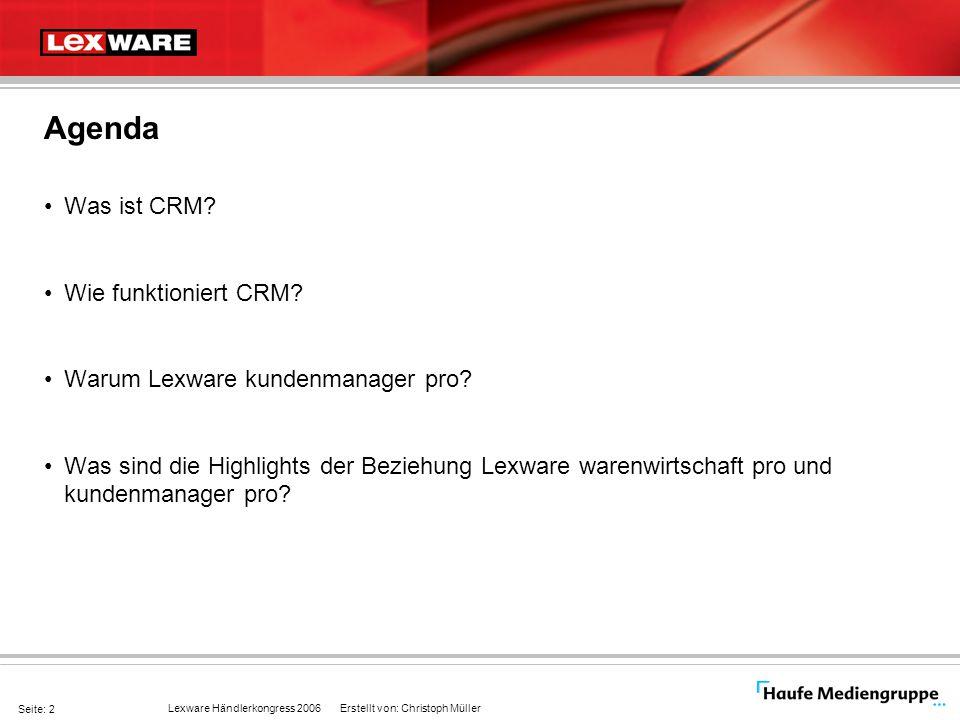 Agenda Was ist CRM Wie funktioniert CRM