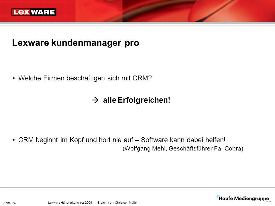 Lexware kundenmanager pro