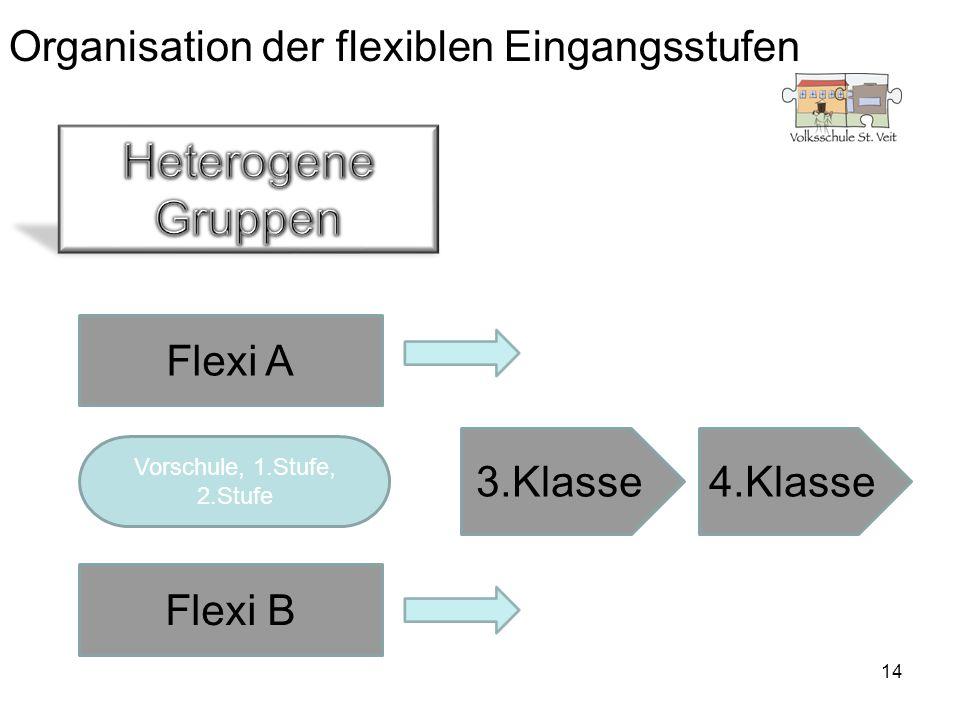 Organisation der flexiblen Eingangsstufen