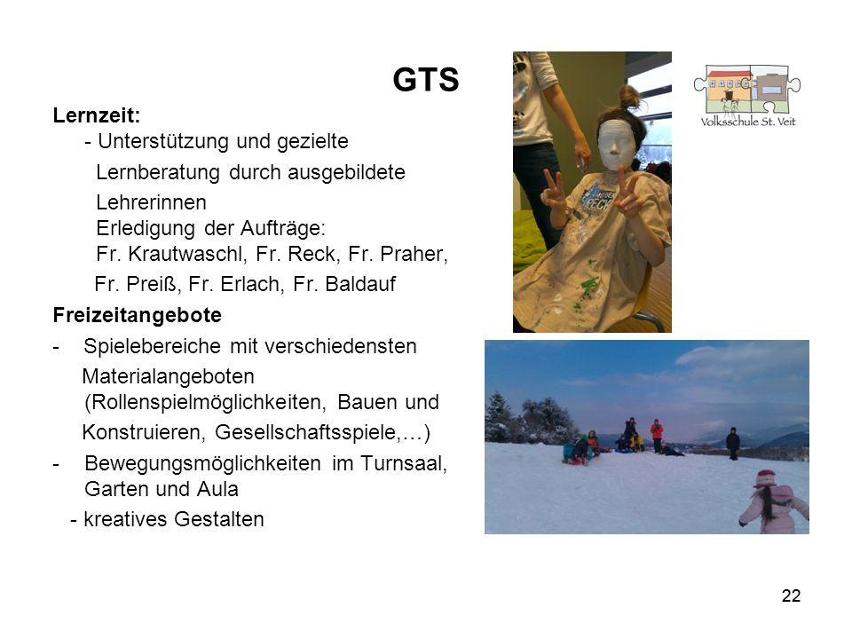 GTS Lernzeit: - Unterstützung und gezielte
