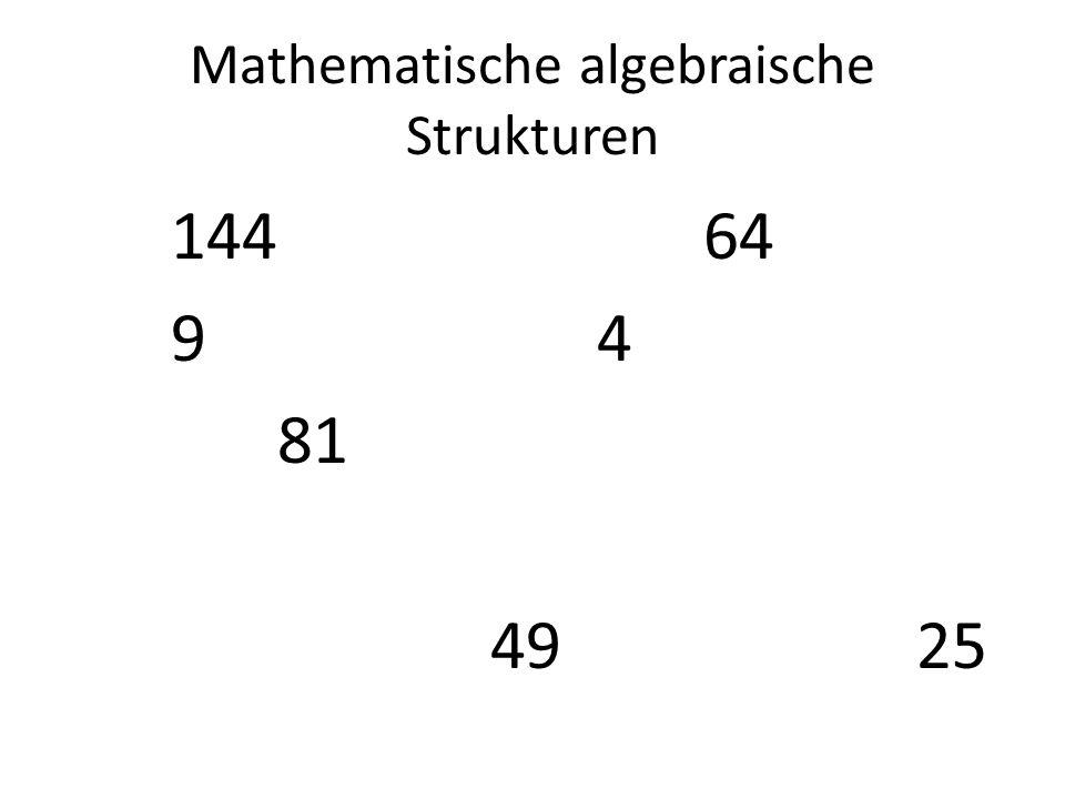 Mathematische algebraische Strukturen