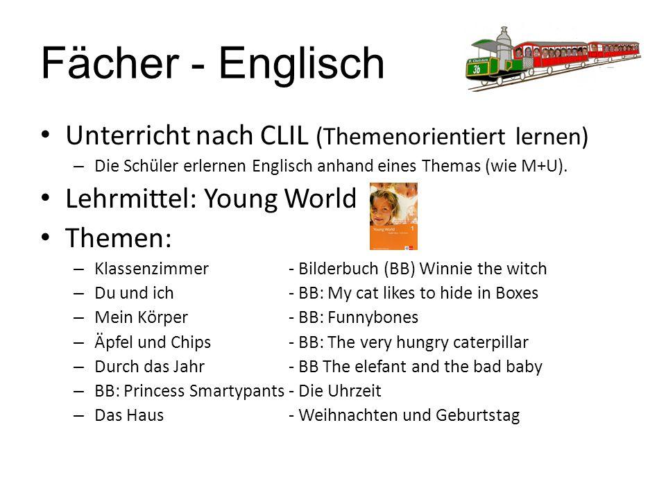 Fächer - Englisch Unterricht nach CLIL (Themenorientiert lernen)