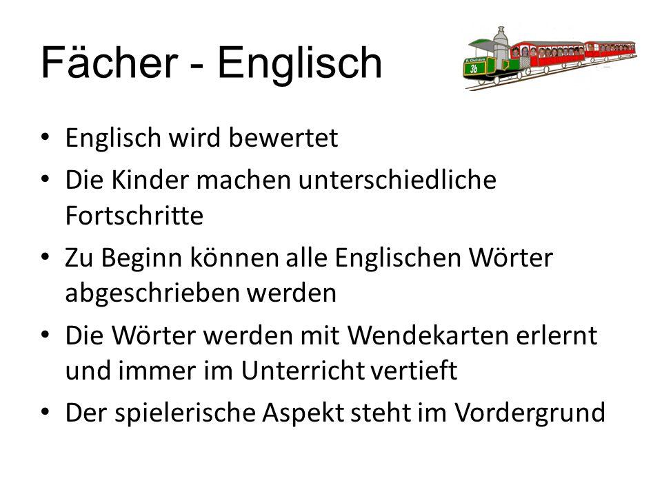 Fächer - Englisch Englisch wird bewertet