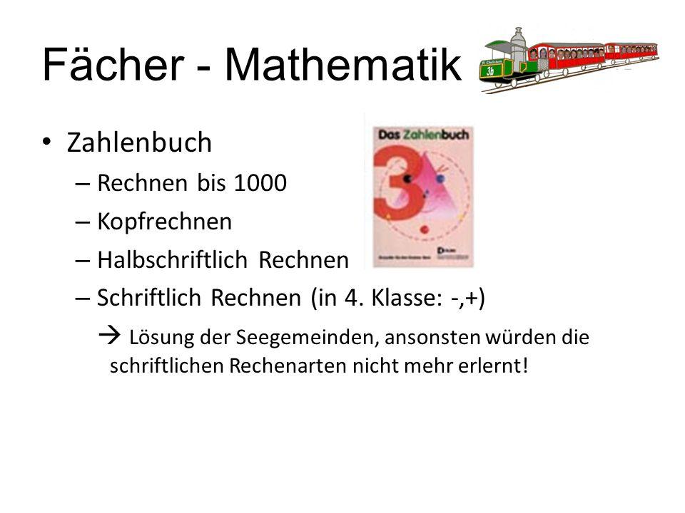 Fächer - Mathematik Zahlenbuch Rechnen bis 1000 Kopfrechnen