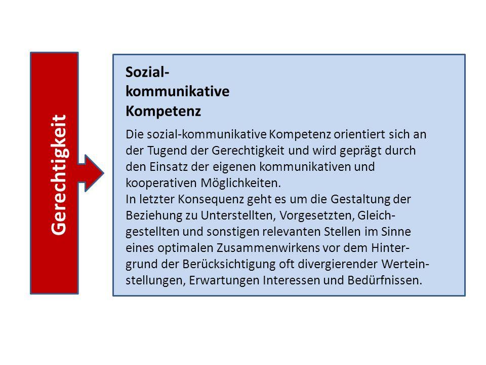 Gerechtigkeit Sozial-kommunikative Kompetenz