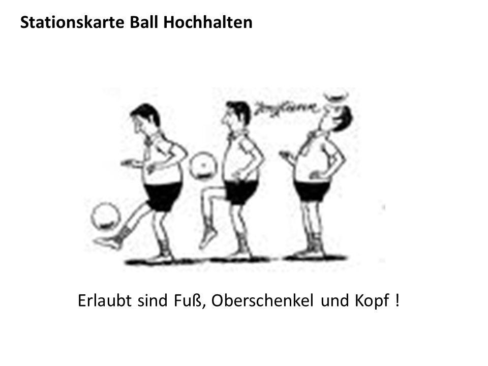 Stationskarte Ball Hochhalten