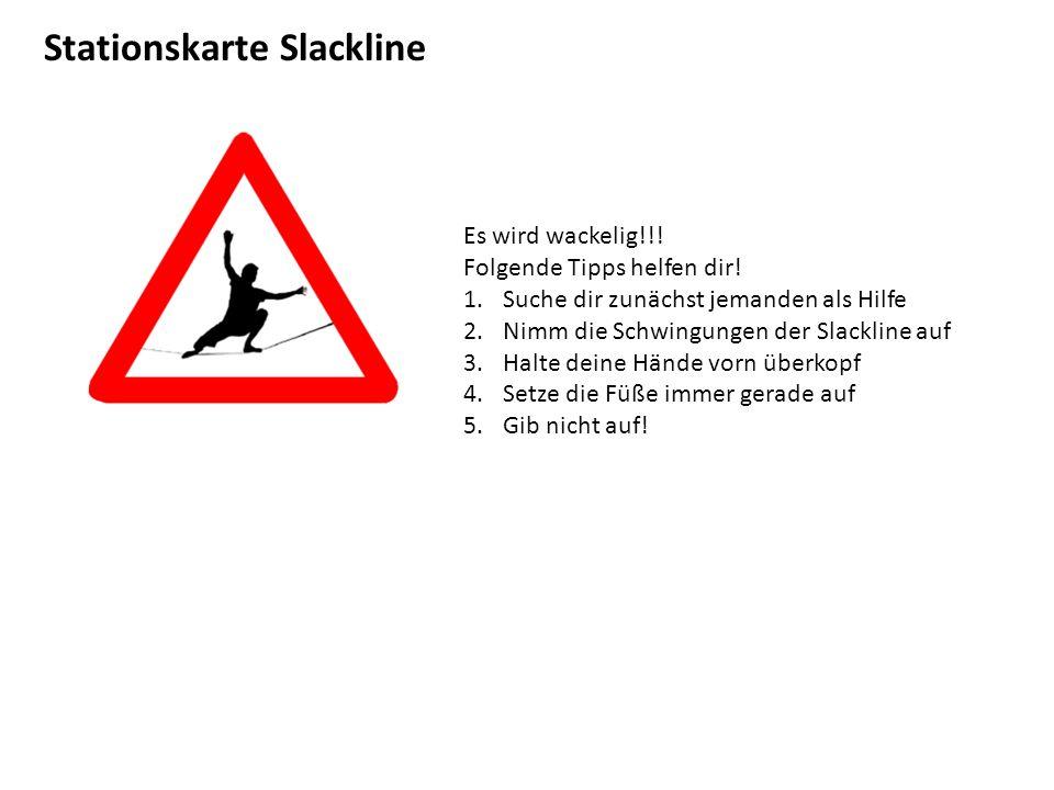 Stationskarte Slackline