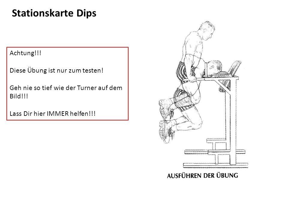 Stationskarte Dips Achtung!!! Diese Übung ist nur zum testen!