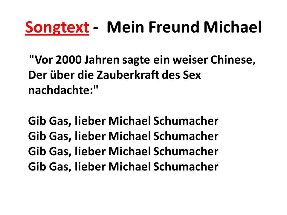 Songtext - Mein Freund Michael