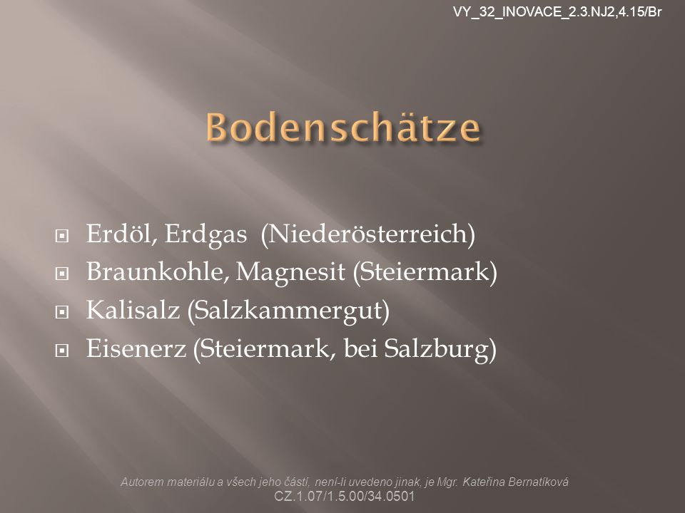 Bodenschätze Erdöl, Erdgas (Niederösterreich)