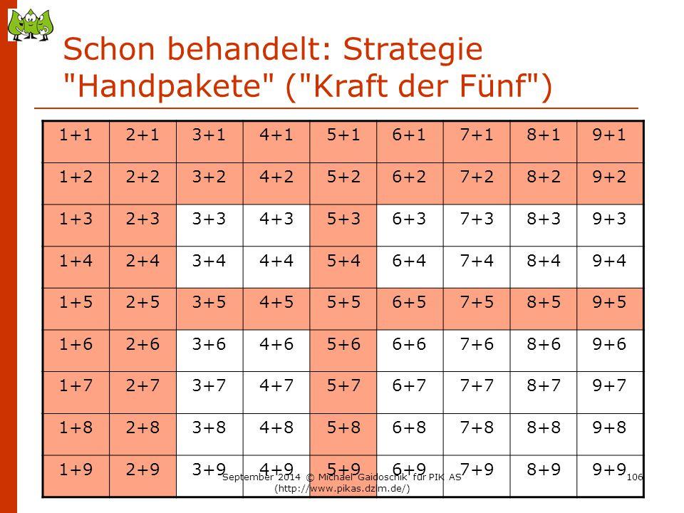 Schon behandelt: Strategie Handpakete ( Kraft der Fünf )