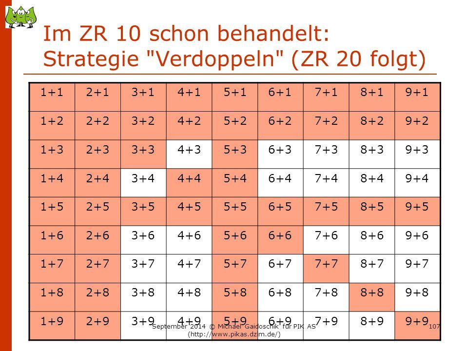 Im ZR 10 schon behandelt: Strategie Verdoppeln (ZR 20 folgt)