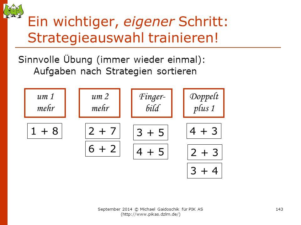 Ein wichtiger, eigener Schritt: Strategieauswahl trainieren!