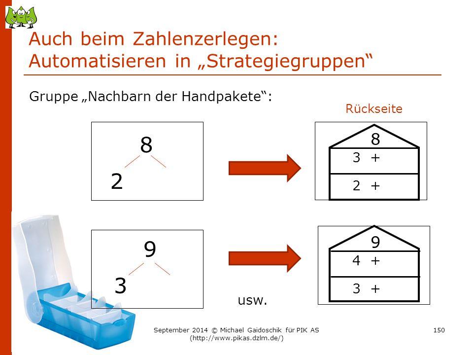 """Auch beim Zahlenzerlegen: Automatisieren in """"Strategiegruppen"""