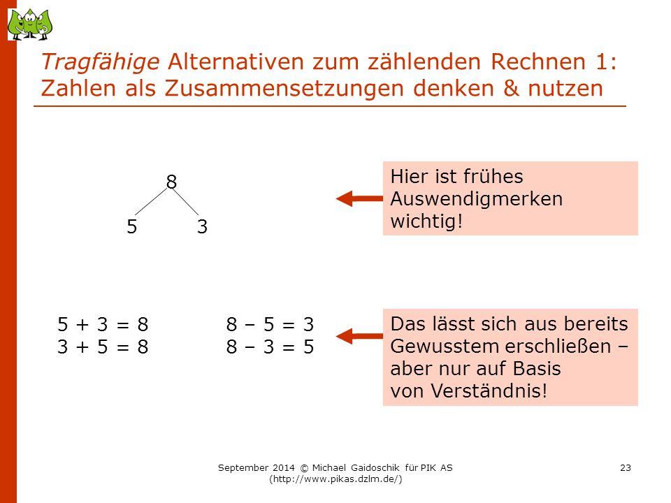 Tragfähige Alternativen zum zählenden Rechnen 1: Zahlen als Zusammensetzungen denken & nutzen