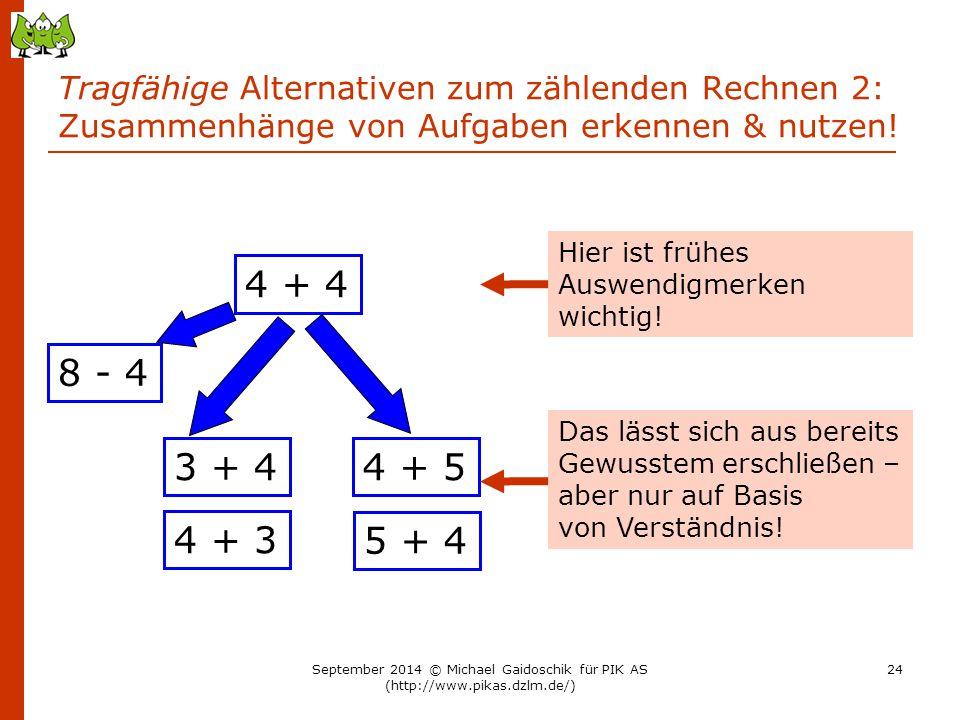 Tragfähige Alternativen zum zählenden Rechnen 2: Zusammenhänge von Aufgaben erkennen & nutzen!