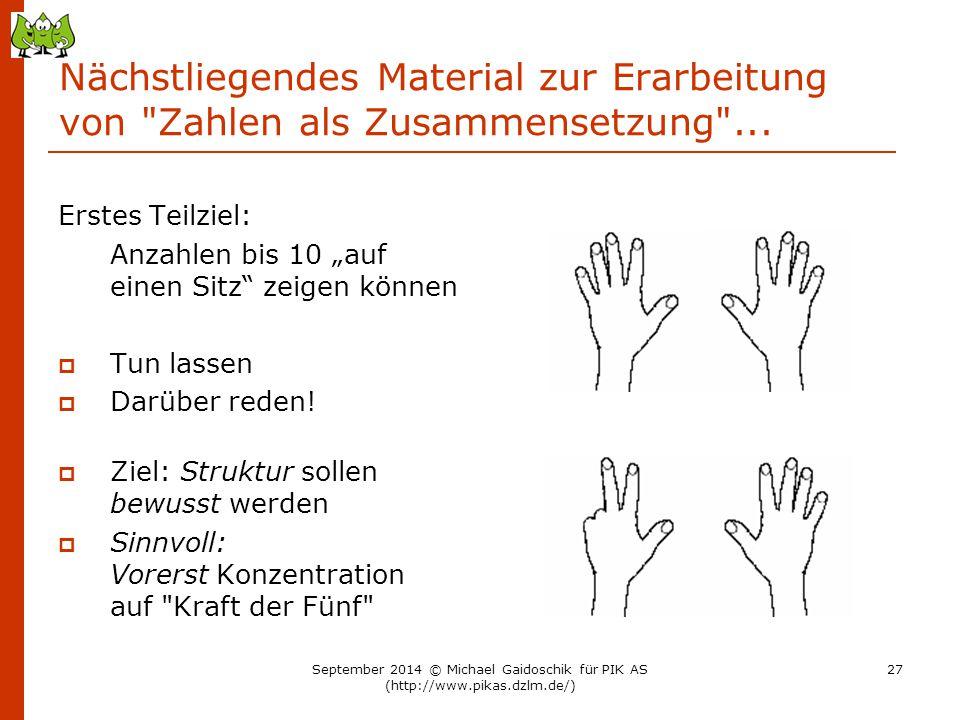 Nächstliegendes Material zur Erarbeitung von Zahlen als Zusammensetzung ...