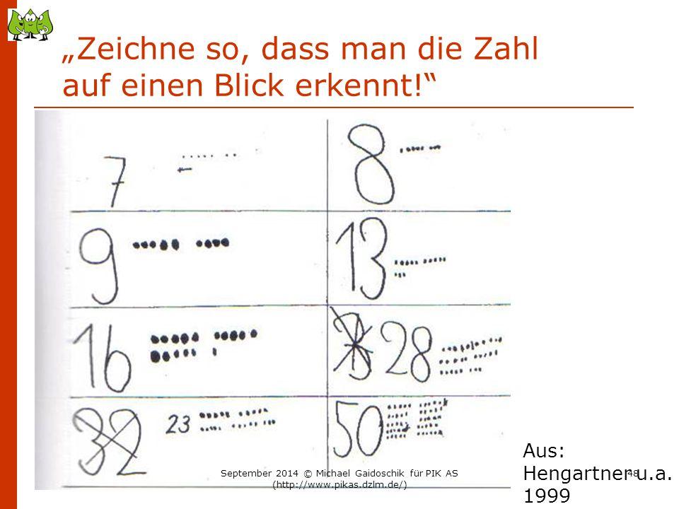 """""""Zeichne so, dass man die Zahl auf einen Blick erkennt!"""
