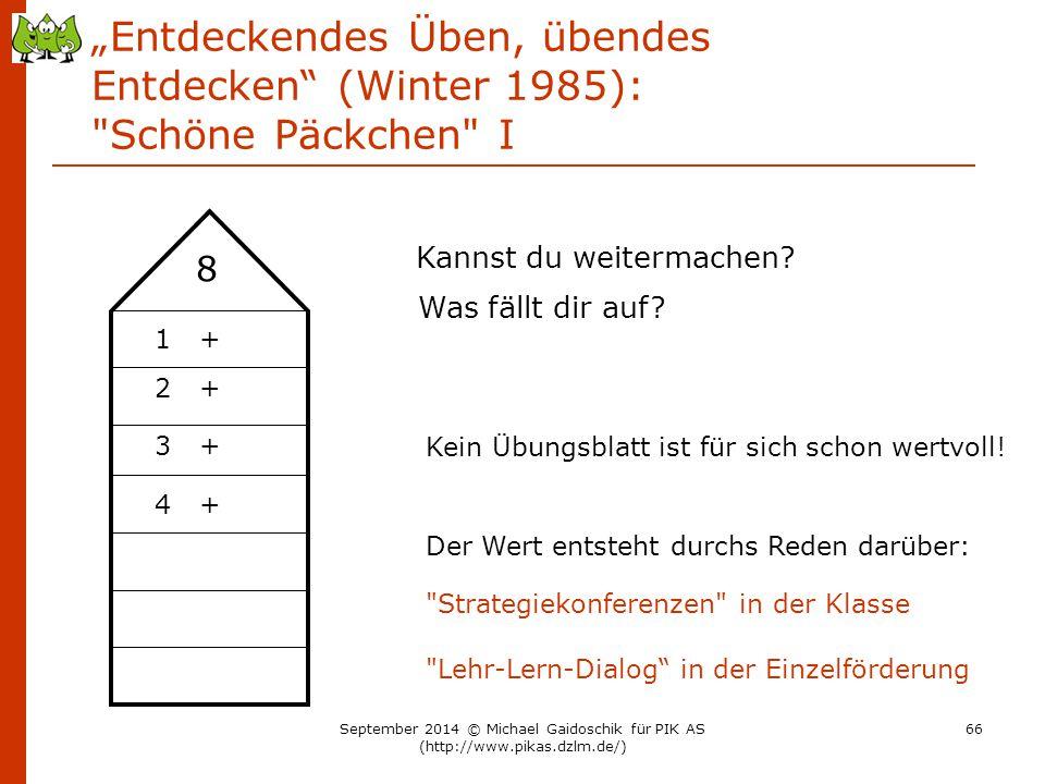 """""""Entdeckendes Üben, übendes Entdecken (Winter 1985): Schöne Päckchen I"""