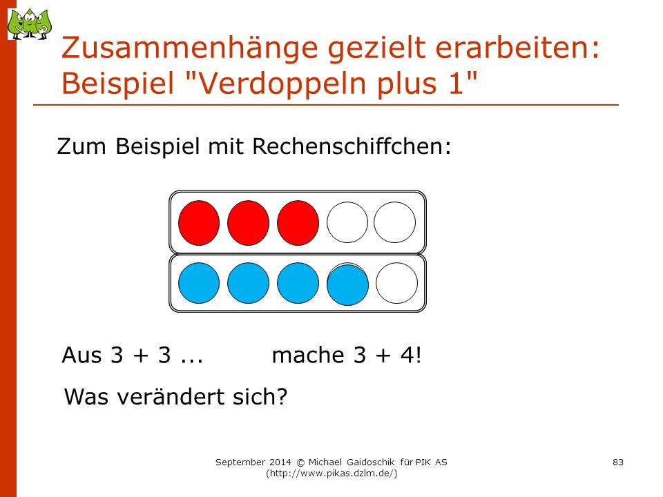 Zusammenhänge gezielt erarbeiten: Beispiel Verdoppeln plus 1