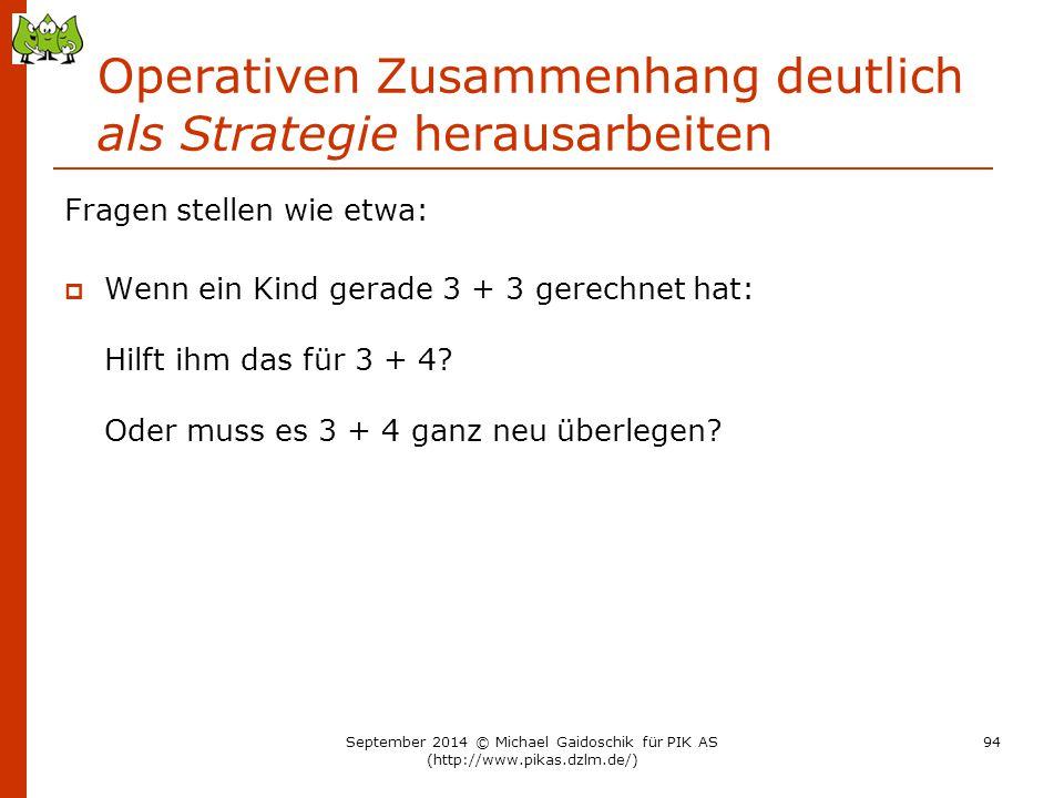Operativen Zusammenhang deutlich als Strategie herausarbeiten