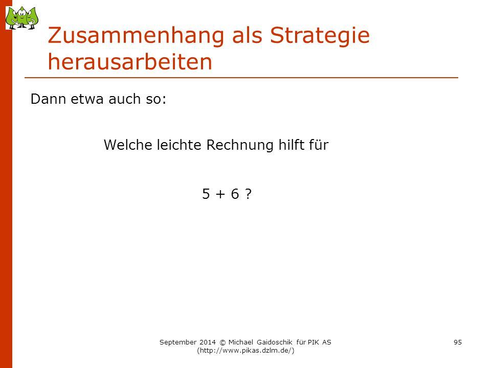 Zusammenhang als Strategie herausarbeiten