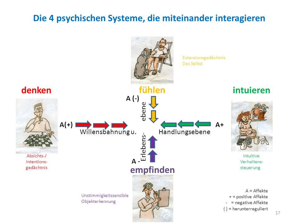 Die 4 psychischen Systeme, die miteinander interagieren