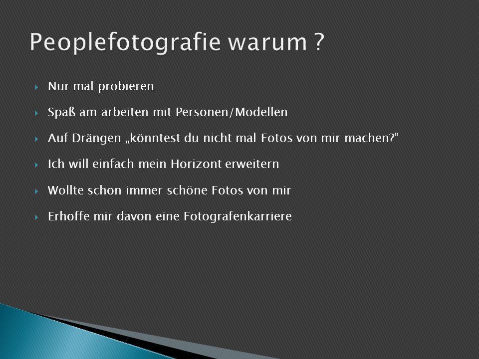 Peoplefotografie warum