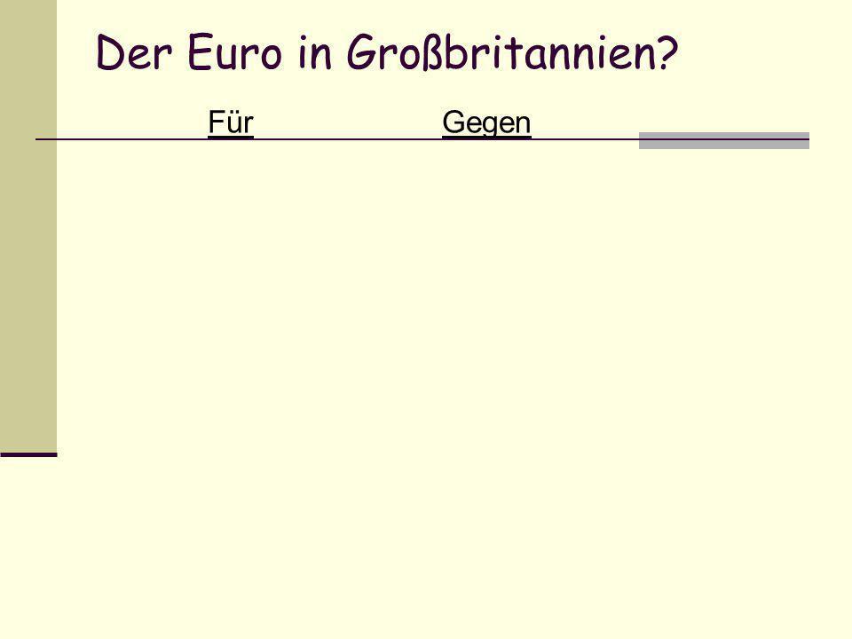 Der Euro in Großbritannien