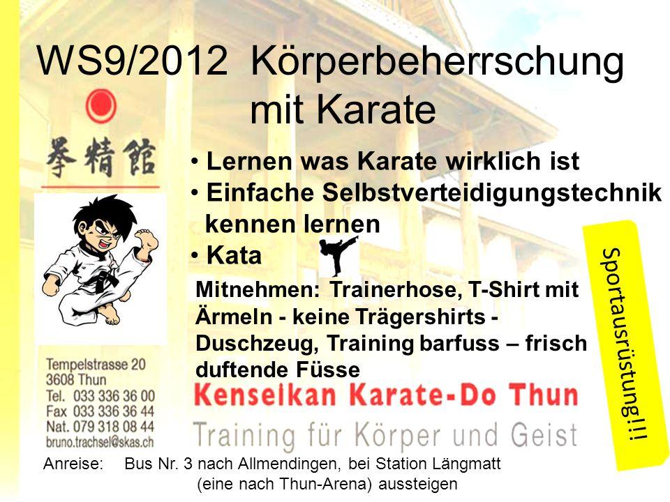 WS9/2012 Körperbeherrschung mit Karate