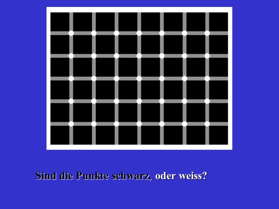 Sind die Punkte schwarz, oder weiss
