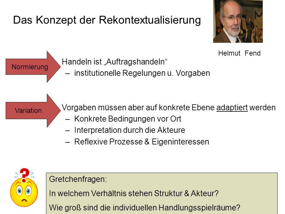Das Konzept der Rekontextualisierung
