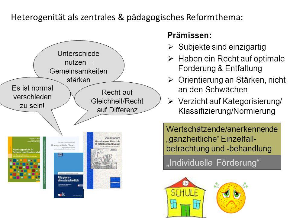 Heterogenität als zentrales & pädagogisches Reformthema: