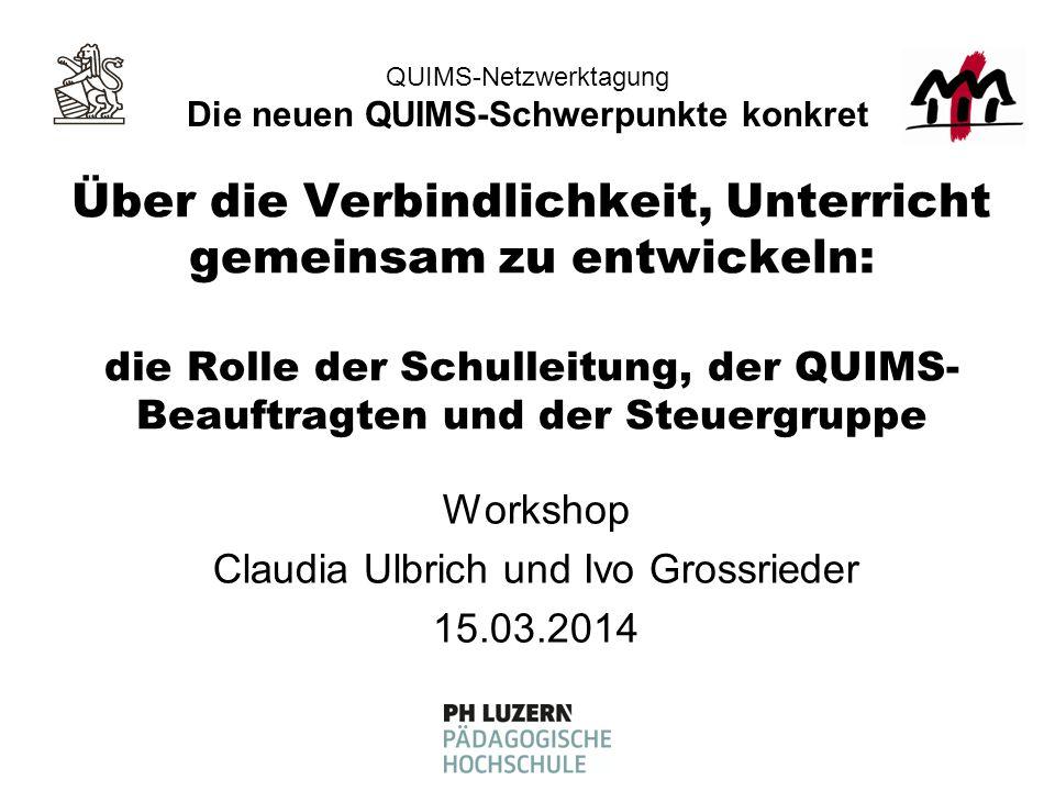 QUIMS-Netzwerktagung, 15.03.2014