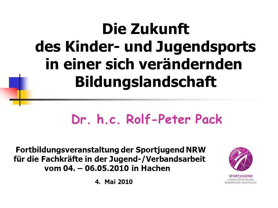 Dr. h.c. Rolf-Peter Pack Die Zukunft des Kinder- und Jugendsports