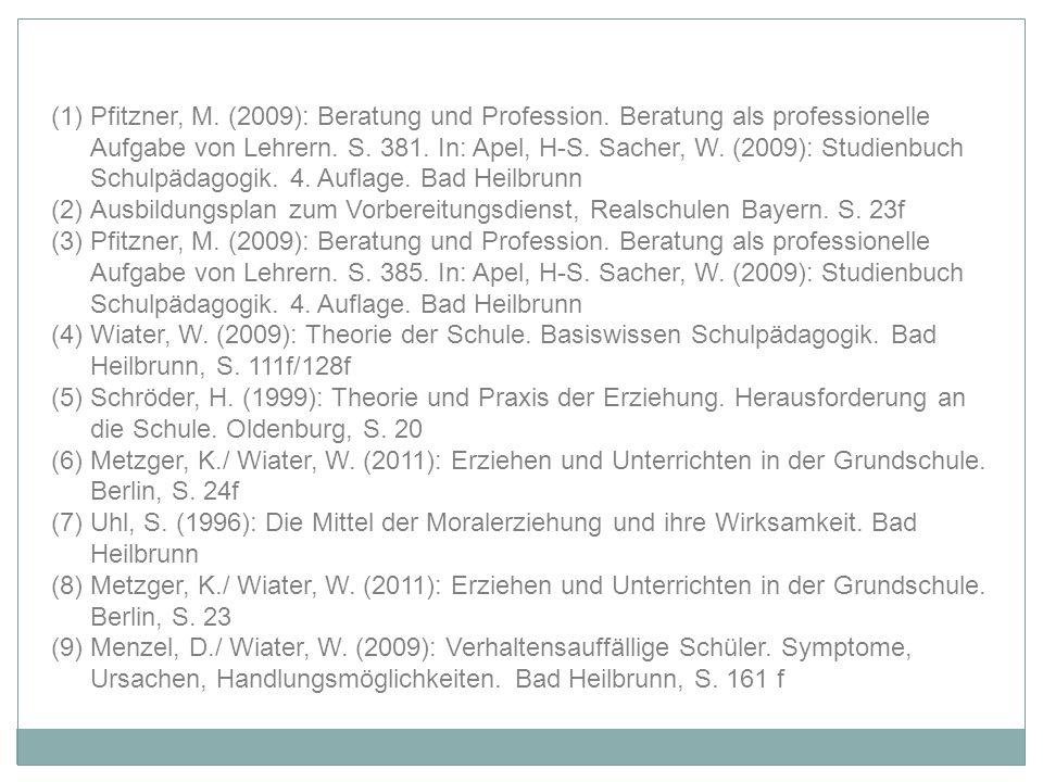 Pfitzner, M. (2009): Beratung und Profession