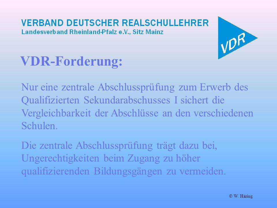 VDR-Forderung: