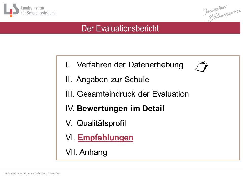 Der Evaluationsbericht