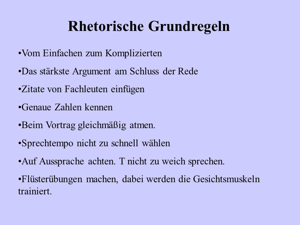 Rhetorische Grundregeln