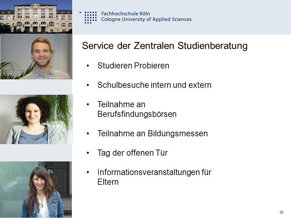 Service der Zentralen Studienberatung
