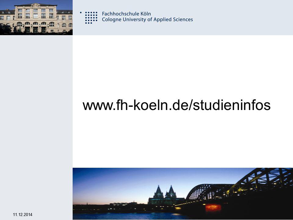 www.fh-koeln.de/studieninfos 07.04.2017 07.04.2017