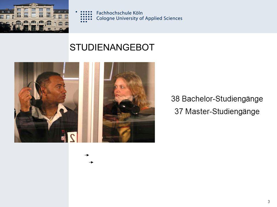 38 Bachelor-Studiengänge