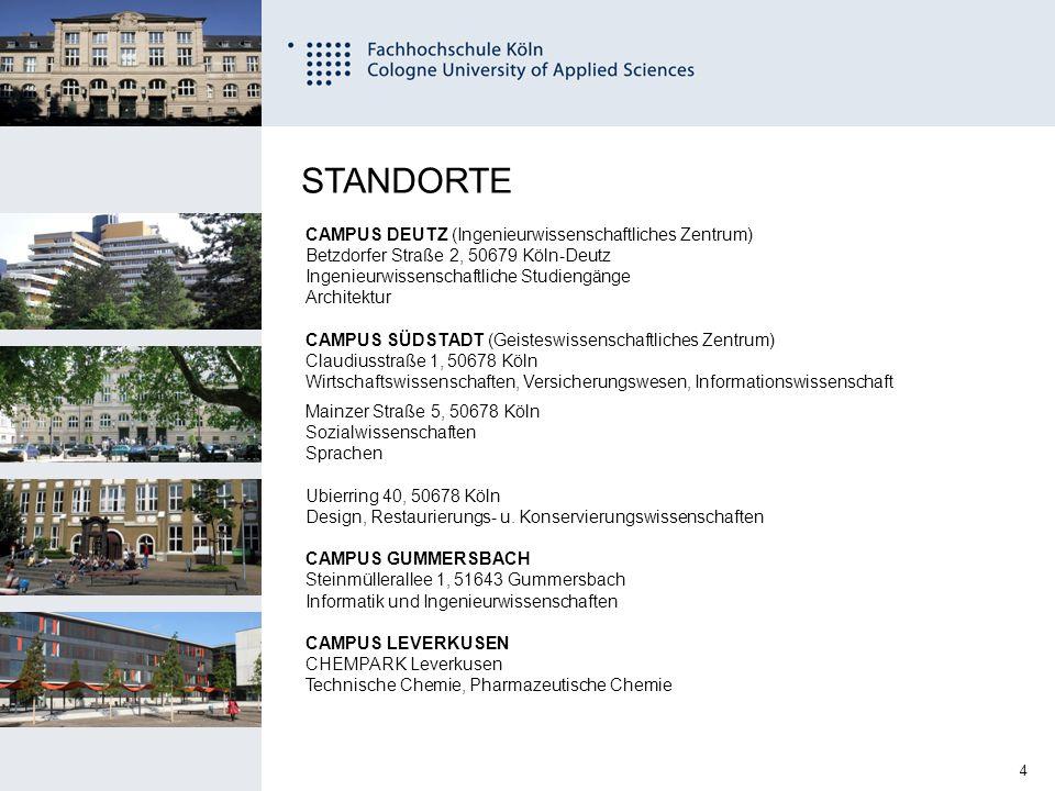 STANDORTE CAMPUS DEUTZ (Ingenieurwissenschaftliches Zentrum)