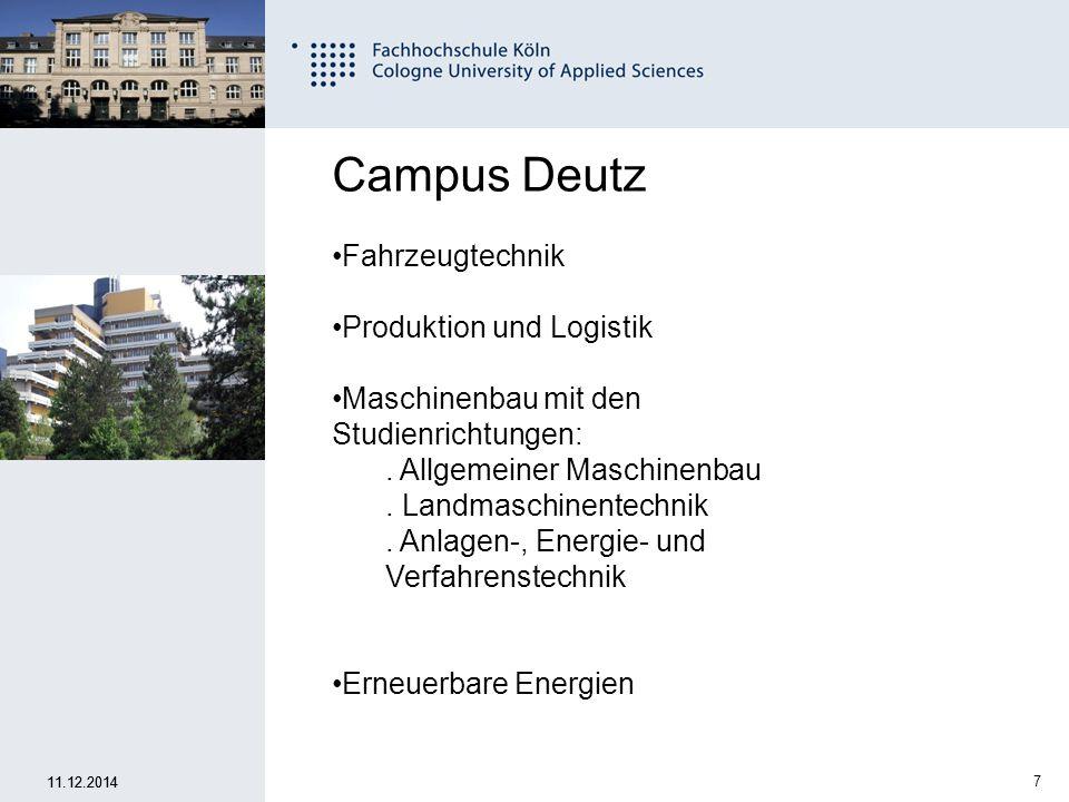 Campus Deutz Fahrzeugtechnik Produktion und Logistik