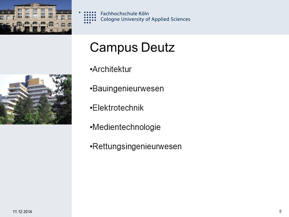 Campus Deutz Architektur Bauingenieurwesen Elektrotechnik