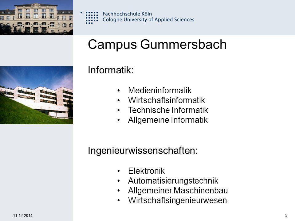 Campus Gummersbach Informatik: Ingenieurwissenschaften: