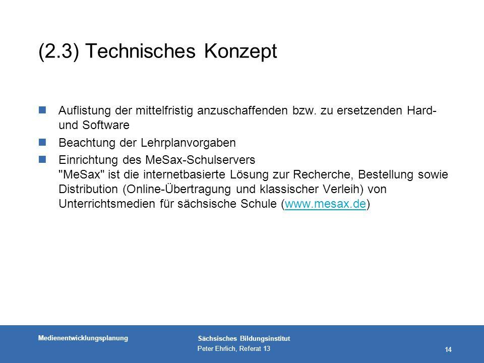 (2.3) Technisches Konzept