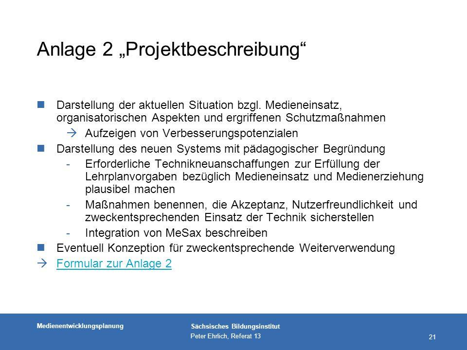 """Anlage 2 """"Projektbeschreibung"""