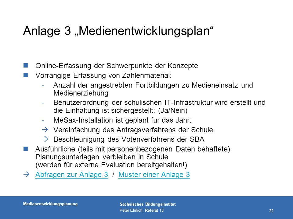 """Anlage 3 """"Medienentwicklungsplan"""